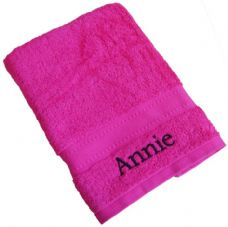 Bright Pink Hand Towel